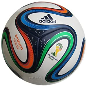 adidas Brazuca Top Replique X-Mas Ballon de foot Homme White/Night Blue F13/Multicolor Taille 5