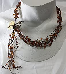 Amber Pearl Nest Necklace