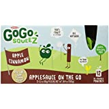 GoGo Apple Cinnamon Squeeze Applesauce on the Go 12 Re-Sealable 3.2 oz Pouches