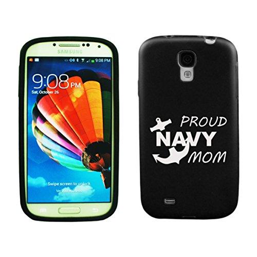 Samsung Galaxy S5 Aluminum & Silicone Case Proud Navy Mom - Lifetime Warranty (Black)