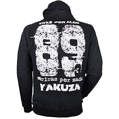Yakuza Sweatshirt Herren Hoodie Vives Por Algo HOB 628 schwarz
