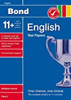 Bond 11+ Test Papers English Multiple Choice Pack 2