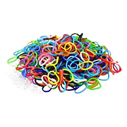 [Best price] Arts & Crafts - Multi Color Latex Free Silicone Loom Bands - 600 Bands & 25