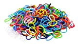 Multi Color Latex Free Silicone Loom Bands - 600 Bands & 25 'S' Hook Clips!