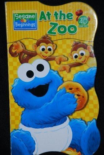 At The Zoo with Baby Cookie Monster Sesame Beginnings Board Book - 1
