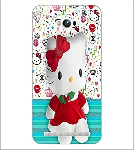 PrintDhaba Kitty D-4428 Back Case Cover for ASUS ZENFONE MAX ZC550KL (2016) (Multi-Coloured)