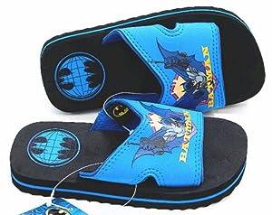 Batman Black Globe Kids Sandals