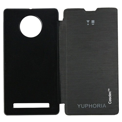 Casotec Premium Flip Case Cover for Micromax YU Yuphoria - Black  available at amazon for Rs.149
