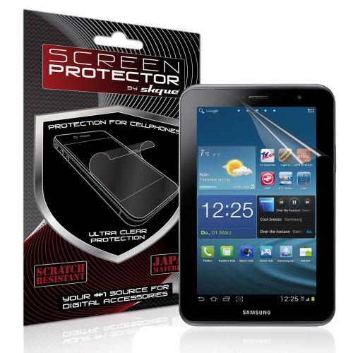 Skque Displayschutzfolie für Samsung Galaxy Tab 2 7.0 P3100 P3110 - Displayschutz Crystal Clear