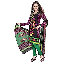ZHot Fashion crepe Multicolor Designer Printed Salwar Suit (ZHPK1001B)