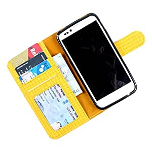 i-KitPit PU Leather Wallet Flip Case Cover For Nokia Lumia N625 (Yellow)
