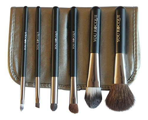 make-up-brushes-by-you-rocque-premium-makeup-brush-set-with-travel-case-6-professional-soft-cosmetic