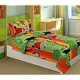 La Elite 100% Cotton Kid Cartoon Single Bedsheet Witn 1 Pillow Cover
