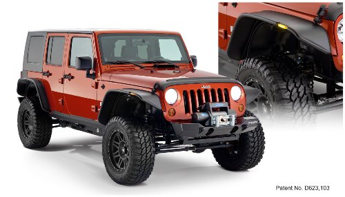 Jeep Flat Style Fender Flare Set of 4