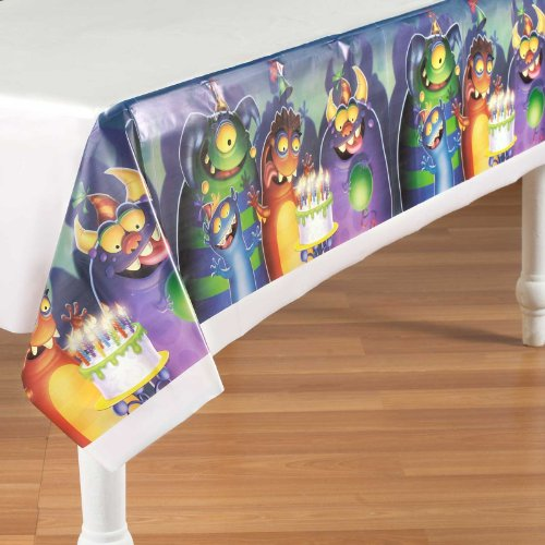 Monster Mania Plastic Tablecover Party Accessory