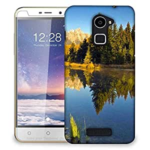 Snoogg Yellow Mountain Designer Protective Phone Back Case Cover For Coolpad Note 3 Lite