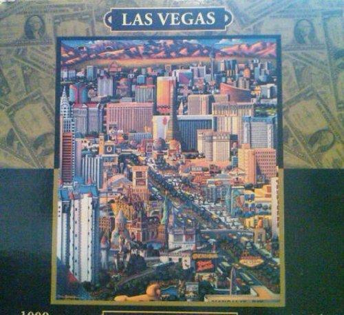 """Dowdle Folk Art 1000 Piece Puzzle """"Las Vegas"""" - 1"""