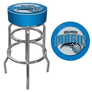 NBA Orlando Magic Padded Swivel Bar Stool by Trademark Games