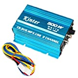 Hiyadeal 500 Watt 2 Channel Car Audio Power Amplifier Amp
