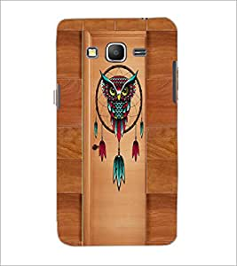 PrintDhaba Owl D-3352 Back Case Cover for SAMSUNG GALAXY GRAND PRIME (Multi-Coloured)