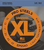 D'Addario EPS540 XL ProSteels Light Top/Heavy Bottom  (.010-.052) Electric Guitar Strings
