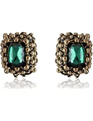 Cinderella Collection By Shining Diva Turquoise & Golden Amethyst Stylish Fancy Party Wear Stud Earrings For Girls...