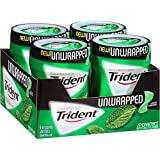 Trident Unwrapped Sugar Free Gum (Spearmint, 50-Piece, 4-Pack) (Tamaño: 4-Pack 50-Piece)