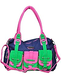 La Diva Women Blue And Pink Shoulder Bag