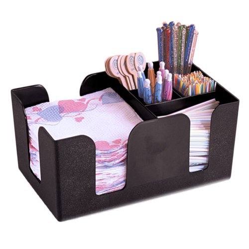 American Metalcraft BAR6 Plastic Bar Organizer, Black