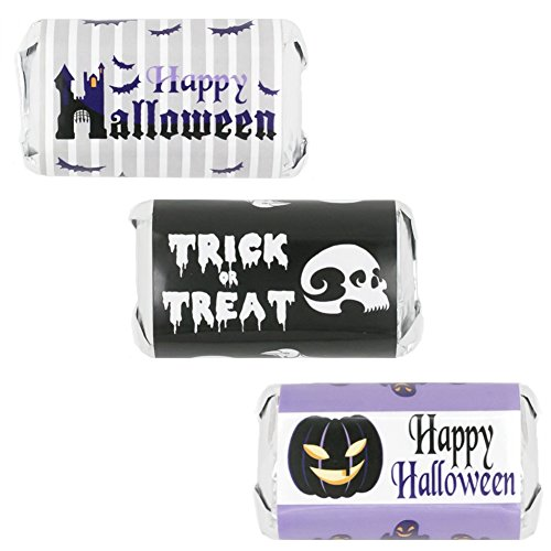 Halloween Party Favors - Purple Haunted Mansion - Sticker Decorations for Hershey's Miniatures (Set of (Haunted House Ideas For Halloween Party)