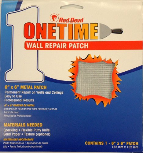 Red Devil 1216 6-Inch Onetime Wall Repair Patch