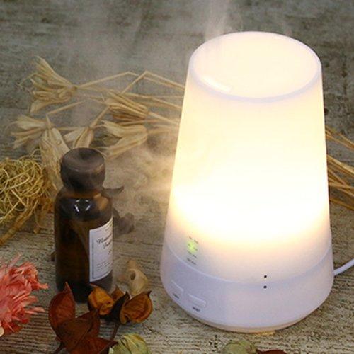 Hanwha 卓上 超音波 加湿器 アロマディフューザー ライト アロマポット [暖色LEDライト][アロマライト][小型 加湿器] HG-ASL009
