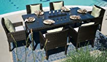 Hot Sale The Via Collection 6-Person All Weather Wicker Patio Furniture Dining Set
