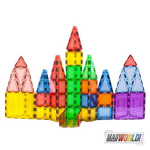 Magworld Toys 100 Piece Creator Magnetic Tile Building Set
