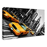 Yellow Taxis In NYC Canvas Print - 76x51cm