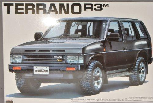 Nissan Terrano R3 1 Schwarz 1987-1995 044155 Kit Bausatz 1/24 Aoshima Modell Auto mit individiuellem Wunschkennzeichen