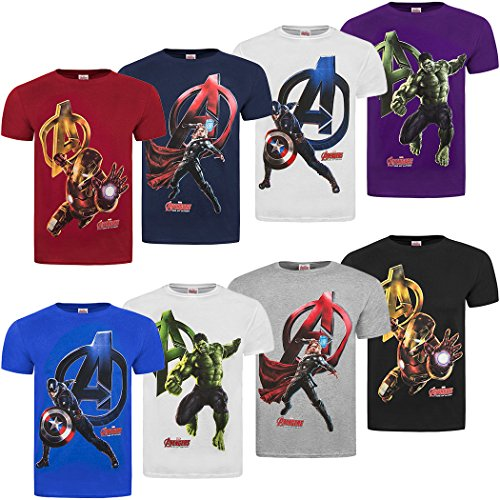 Official Marvel Avengers 2 Age Of Ultron 'Attack' Character T-Shirts
