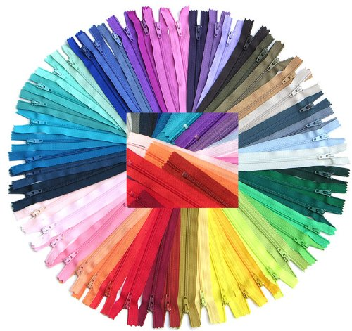 Big Save! Zipperstop Wholesale YKK® 54pcmix Nylon Coil Zippers Tailor Sewer Craft 14 Inch Crafter's...