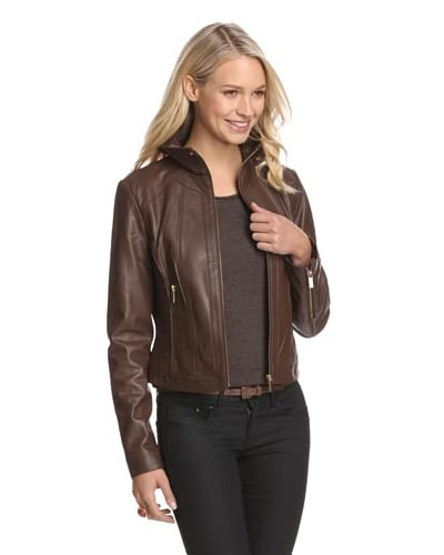 Bagatelle Women's Leather Bomber Jacket