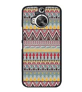 Multi Colour Pattern 2D Hard Polycarbonate Designer Back Case Cover for HTC One M9 Plus :: HTC One M9+ :: HTC One M9+ Supreme Camera