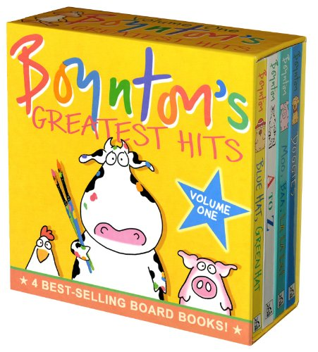 Boynton'S Greatest Hits: Volume 1/Blue Hat, Green Hat; A To Z; Moo, Baa, La La La!; Doggies (Boynton Board Books) front-447146