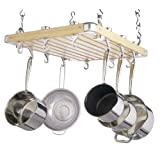 Kitchen Craft Master Class Deluxe Ceiling Mounted Wooden Potby Master Class