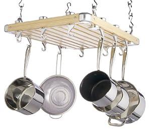 Kitchen craft master class deluxe porta utensili da cucina - Portapentole da soffitto ...