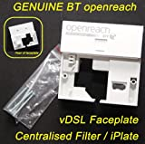 GENUINE BT Openreach - vDSL Interstitial Faceplate, ADSL Filter & I-Plate / iplate, Replaces NT2000 / NT2005 and iPlate, ADSL / ADSL2 / BT Infinity Compatible