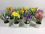 12 Stück Kunstblumen im Keramiktopf - Modelle sortiert