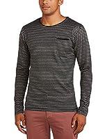 Selected Homme Men's Sloan O-Neck Id Striped Crew Neck Long Sleeve Sweatshirt