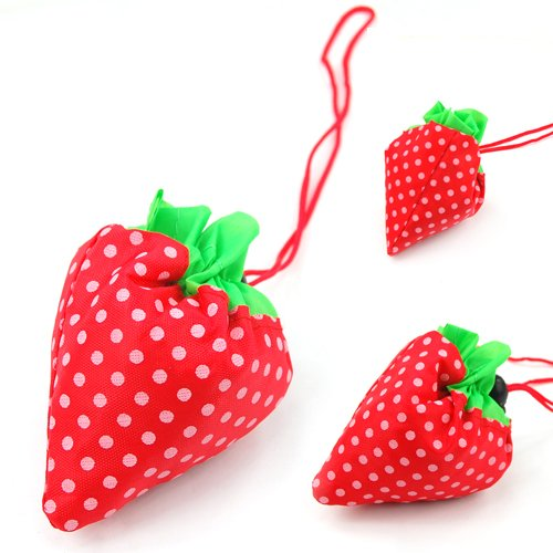 Strawberry Folding Reusable Shopping Bag