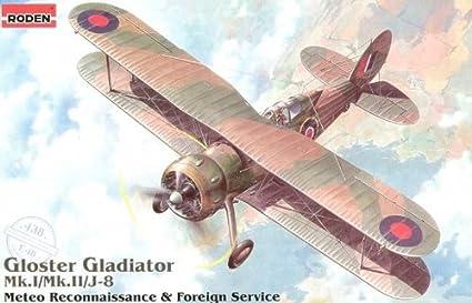 Roden-Gloster-Gladiator-Mk.I/-Mk.II/J8-Airplane-Model-Kit
