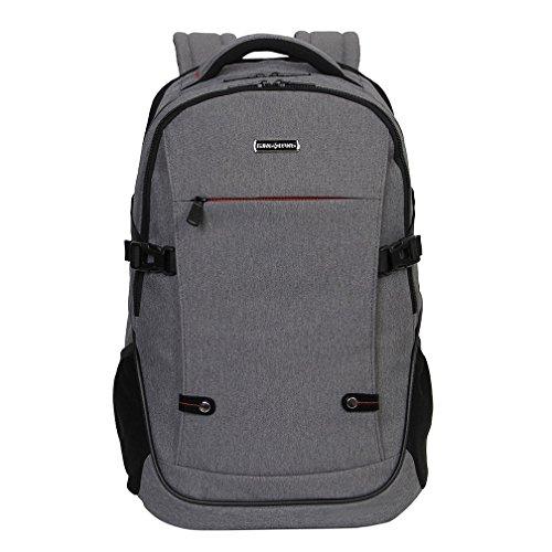 KINGSLONG ラップトップ タブレット バッグ 多機能 通勤 通学 外出 大容量 15.6インチ グレー