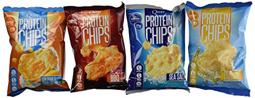 Quest Nutrition Protein Chips, Variety Pack Including BBQ, Sea Salt, Cheddar Sour Cream & Salt & Vinegar, Pack of 8, 2 Bags of Each (Quest Protein Crisps compare prices)